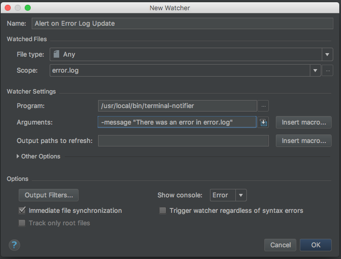File Watcher Dialog